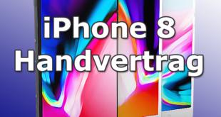 Das Apple iPhone 8 mit Handyvertrag betsellen